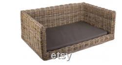 Lit De Chien Luxe Rattan Dog Sofa Bed Wicker Dog Bed