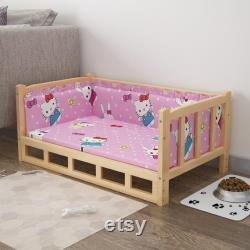 Lit En Bois Pet Dog Bed Pet Lit Calmant Pour Chien Et Chat Pet Meubles Dog Bed Dog Meubles Dog Cadeau Accessoires Pour Chien