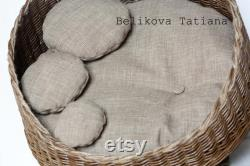 Lit Pour Animaux De Compagnie Personnalisé Lit Chiot Cadeau Pour Chiens Faits À La Main Eco-lit Pour Chiens Et Chats Cadeau De Noël Lit D'animal De Compagnie
