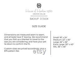 Maison De Harlow 1960 Créateur Collab Caramel Block Imprimer Dog Bed Quick Ship Lit D'animal Durable