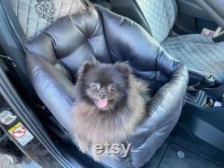 Mini Siège D'auto Pour Dog Dog Car Booster Seat Safety Dog Siège D'auto En Faux Cuir Noir Siège D'auto Pour Chien Pour Petit Chien