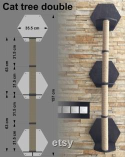 Mur De Grattage, Support Mural De Grattage De Chat, Poteau De Grattage, Meubles De Chat Modernes, Meubles Muraux, Arbres De Chat Uniques, Arbre De Chat De Bois,