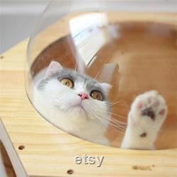Mur Monté Cat Climbing Frame Cat Tree Hexagonal Space Capsule Cat Wall Play House Cave Kitten Toy Bed Diy Pet Furniture
