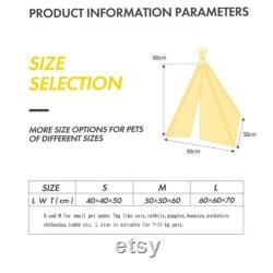 Pet Tent House Cat Bed Portable Teepee With Thick Cushion And 6 Colors Available For Dog Puppy Excursion Outdoor Indoor, Boho Living For Animal