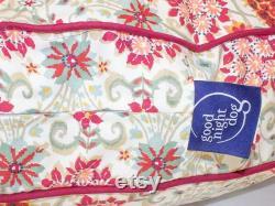 Rocat Round Dog Bed Blush, Corail, Rose, Vert, Ivoire, Floral Pattern Dog Bed En 3 Tailles, Meubles Pour Animaux De Compagnie