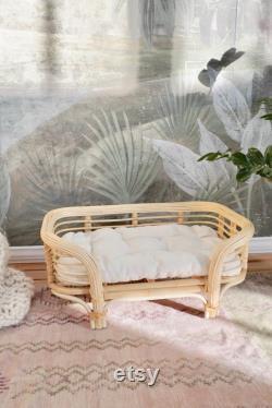 Sausalito Rattan Pet Bed