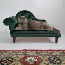 Sofa Vert De Crabot De Velours, Chat De Chaise De Salon, Lit De Chat, Sofa De Chat, Lit De Chien, Divan De Chien, Divan D'animal Familier, Cadeau