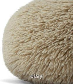 The Dog S Bed Sound Sleep Original Donut Dog Bed, XL Dog Biscuit Beige Plush Couverture Amovible Lit De Nid Calmant
