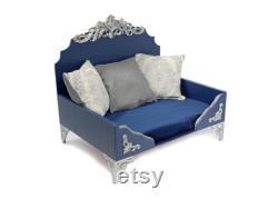The Elegante Luxury Pet Bed, Raised Dog Bed, Color Options, Memory Foam Bedding