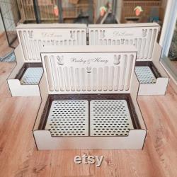 Toilette De Lapin Et Stand De Foin 2in1 Pet Toilet, Hay Rack, Rabbit Supplies Produits Exclusifs Pour Lapins