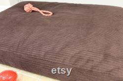 XL Luxury Bean Bag Dog Bed Pet Mattress Extra Large Cushion Pillow Bed Thermal Orthopaedic Washable Corduroy Cover Handmade In Uk