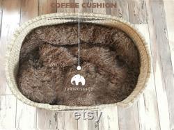 XL Woven Dog Bed Basket Dog Basket Handmade Dog Bed Comfortable Dog Bed Wicker Dog Bed African Dog Bed Natural Pet Bed